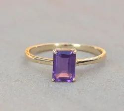 14K Amethyst Gold Ring
