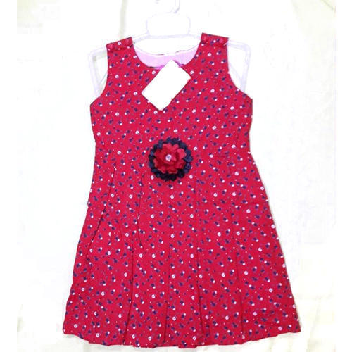 84892f49 Casual Wear Baby Girl Pink Printed Cotton Frock, Rs 250 /piece | ID ...