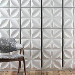 White Korian 3D Wall Panel