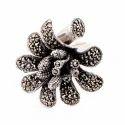 Markasite Flower Ring