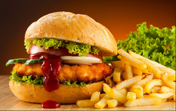 Chicken Burgers And Fries