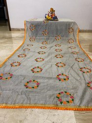 Modal Chanderi Chex Silk Saree