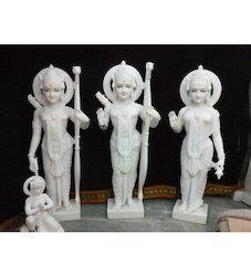 White Ramji Darbar Statues