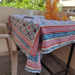 Multicolor Printed Beautiful Pure Cotton Cloth Table Runner, For Home