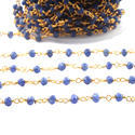 Blue Sapphire Rosary Beaded Chains