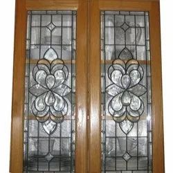Brown Decorative Marandi Wooden Window, Rectangular