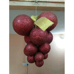 Antler Red Artificial Hanging Glitter Grapes