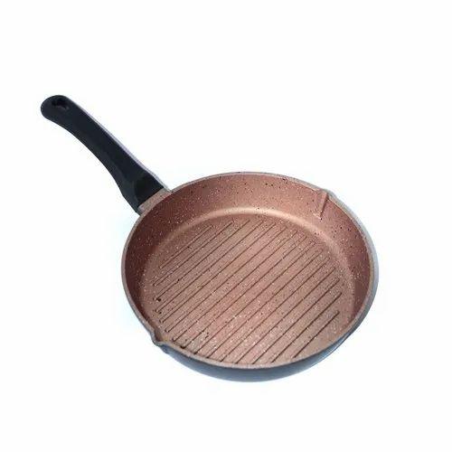 Evershine Non Stick Granite Finish Round Grill Pan, Size: 275 Mm X 235 Mm, Packaging Type: Box