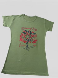 Printed Half Sleeves Cotton Tops For Girls