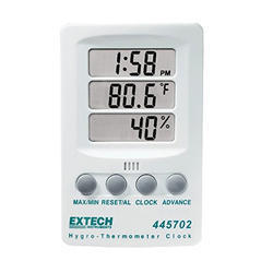 Humidity Meters with Thermometer Clock