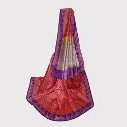 Maroon Tush Silk Saree