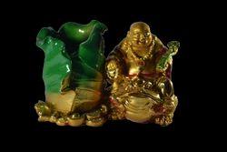 Laughing Buddha Pen Stand