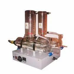 Single Phase Mild Steel Quartz Double Distiller, Capacity: 2 - 10 Lph