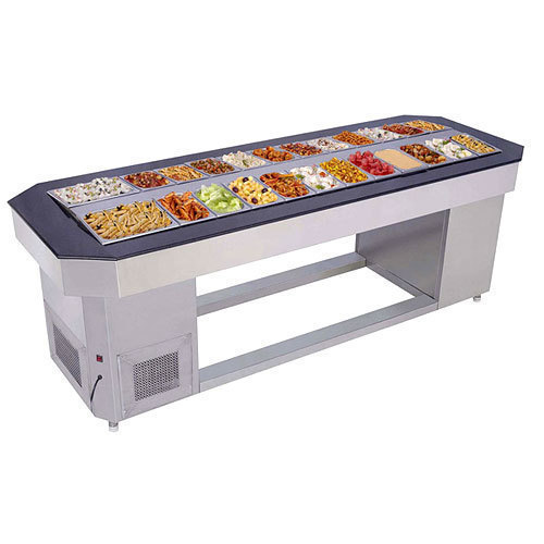 Stainless Steel Cold Salad Counter