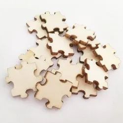 Brown Wooden Unfinished Wood Puzzle