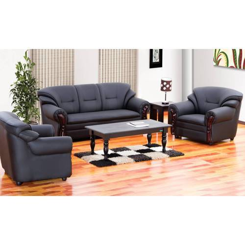 Home Furniture Prices: Black Branded Damro Sofa Set 3 1 1, Size: Standard Size 3