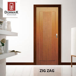 Zig Zag Designer Wooden Bathroom Door