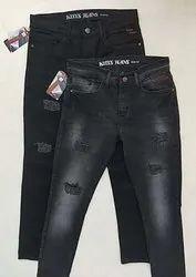 Casual Wear Zipper Mens Denim Jeans