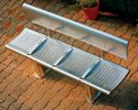 Stainless Steel Railway Bench