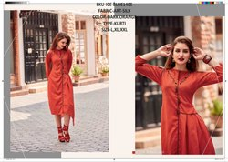 Rachna Art Silk Pattern Cut Work Catalog Kurti For Women 5