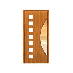 United Oak Modern Wooden Door for Home