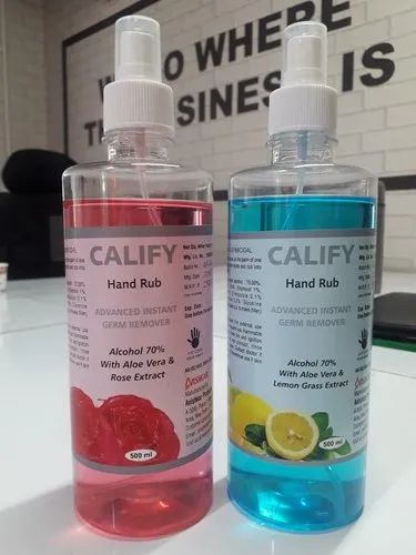 500 Ml Calify Hand Rub With 70% Isopropyl Alcohol