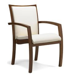 Brown Wooden Arm Chair