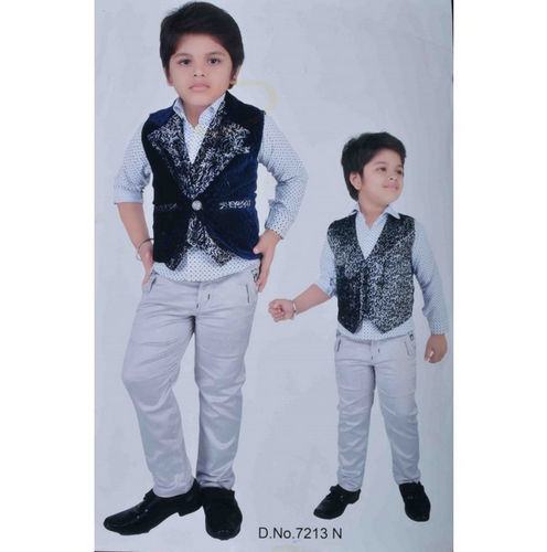 best wholesaler luxury aesthetic later 3 In One Party Jeans Shirt Boys Clothes