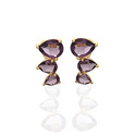 Sunny Earring Stud Vermiel Gold Plated Outstanding Trillion Model Ear Stud For Womens