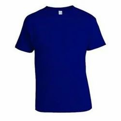 Non-Sublimation Blue Cotton T-Shirt