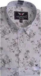 Axnova Cotton Designer Shirt, Size: 38 To 42
