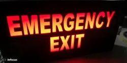 Emergency LED Exit Signage