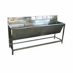 Hospital Rectangular Stainless Steel Wash Basin