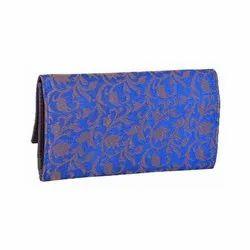 Azzra Blue Wallet Clutch