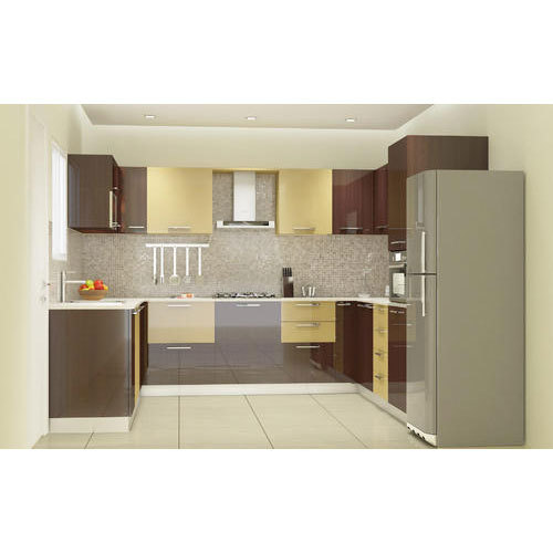 Pvc Modular Kitchen Manufacturer From: U Shape PVC Laminated Modular Kitchen, Rs 1100 /square