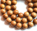 8mm Natural Sandalwood Mala Beads