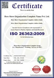 ISO 26362:2009 Certification Consultancy