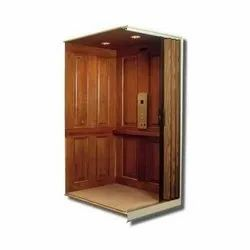 Wooden Finish 6 Persons Wooden Elevator Cabin, for Residential Elevators