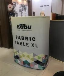 EXIBU Fabric Portable Promotion Table