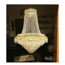 Glass Round Crystal Jhumars 10ft., For Home Decor