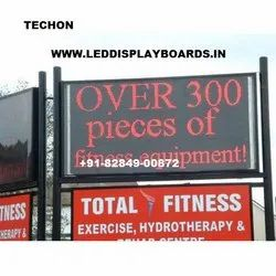 TECHON Outdoor LED Display Board Red