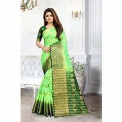 Shree Balaji Casual Balaton Soft Silk Sarees, Packaging Type: Box, 5.5 m (separate blouse piece)