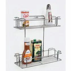 Stainless Steel 2 Shelves Double Shelf Luma Rack For Kitchen