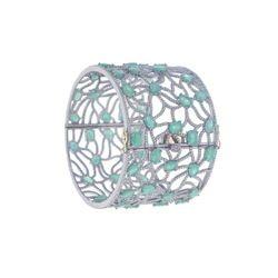 Emerald Gemstone Diamond Bangle