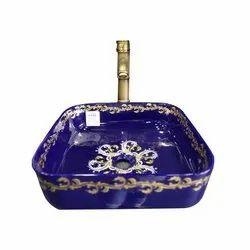 Vikas Ceramic Designer Blue Wash Basins