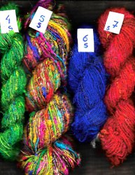 Textured Saree Silk Yarns Suitable for Knitters and Weavers