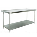 Ss Stainless Steel Two Layer Kitchen Table, For Restaurant, Size: 3*4*6 Feet
