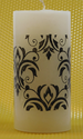 002 Printed Pillar Candle