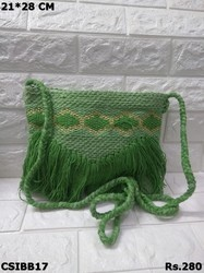 Green Banjara Sling Bag