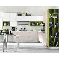Glossy Finish Modular Kitchen